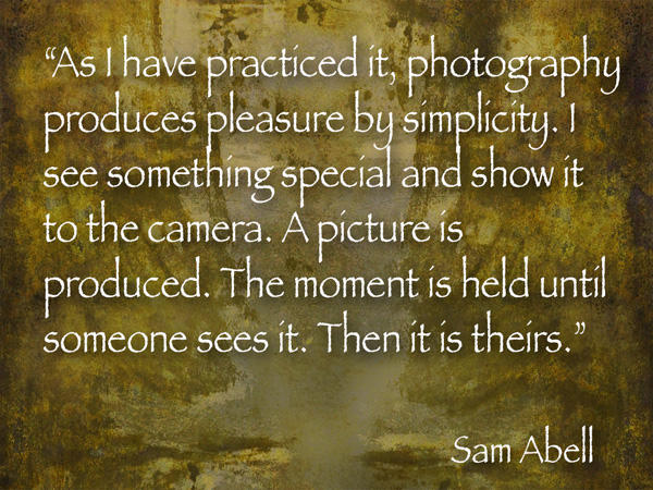 sam abell photographer quote image